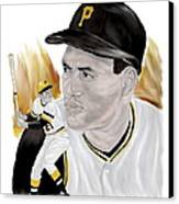 Roberto Clemente Canvas Print by Steve Ramer
