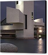 Rock And Roll Hall Of Fame At Dusk Canvas Print by At Lands End Photography