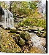 Rock Glen Falls Canvas Print by Cale Best
