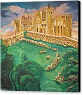 Rock Of Cashel-ireland Canvas Print by John Keaton