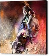 Rodeoscape 01 Canvas Print by Miki De Goodaboom