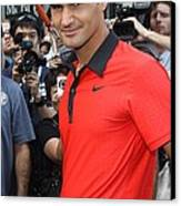 Roger Federer At A Public Appearance Canvas Print by Everett