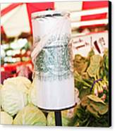 Roll Of Plastic Produce Bags In A Market Canvas Print by Jetta Productions, Inc