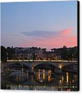 Roma Sunset Canvas Print by Tia Anderson-Esguerra
