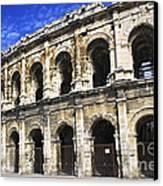 Roman Arena In Nimes France Canvas Print