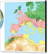 Roman Empire, Artwork Canvas Print