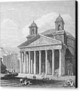 Roman Pantheon, 1833 Canvas Print