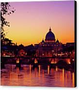 Roman Sunset Canvas Print by Karl Borg