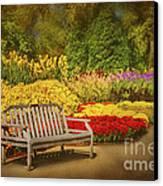 Romantic Flower Garden  Canvas Print