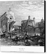 Rome: Ponte Rotto, 1833 Canvas Print by Granger