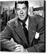 Ronald Reagan, From Shes Working Her Canvas Print by Everett