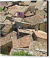 Roofs Of Provence Canvas Print by Bernard Gaillot