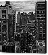 Rooftop Bw16 Canvas Print