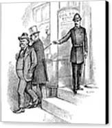 Roosevelt Cartoon, 1884 Canvas Print