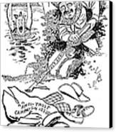 Roosevelt Cartoon, 1902 Canvas Print