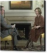 Rosalynn Carter During A White House Canvas Print