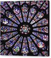 Rose Window In The Notre Dame Cathedral Canvas Print by Axiom Photographic