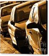Row Of Cars Canvas Print by Carlos Caetano