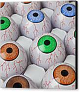 Rows Of Eyeballs Canvas Print by Garry Gay