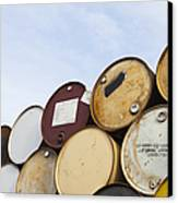 Rows Of Stacked Barrels Canvas Print