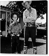 Roy Dusty Rogers Jr., And His Father Canvas Print by Everett