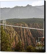 Royal Gorge Bridge Colorado - The World's Highest Suspension Bridge Canvas Print by Christine Till