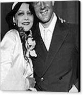 Rudy Vallee Right, And His Wife, Fay Canvas Print