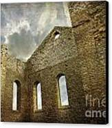 Ruins Of A Church In Ontario Canvas Print by Sandra Cunningham