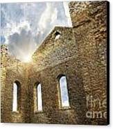 Ruins Of A Church In South Glengarry Canvas Print by Sandra Cunningham
