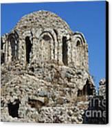 Ruins Of Byzantine Basilica Alanya Castle Turkey Canvas Print