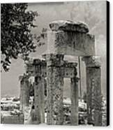 Ruins Of Hierapolis Canvas Print by Waldek Dabrowski
