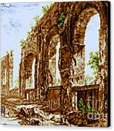 Ruins Of Roman Aqueduct, 18th Century Canvas Print by Science Source