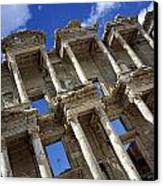 Ruins Of The Great Library At Ephesus Canvas Print