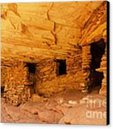 Ruins Structures Canvas Print by Bob and Nancy Kendrick