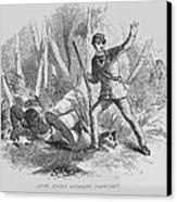 Runaway Slave With Armed Slave Catcher Canvas Print by Everett