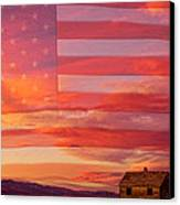 Rural Patriotic Little House On The Prairie Canvas Print by James BO  Insogna