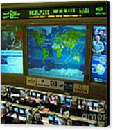 Russian Mission Control Center Canvas Print by Nasa