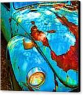 Rusty Blue Canvas Print by Kendra Longfellow
