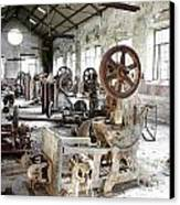 Rusty Machinery Canvas Print by Carlos Caetano