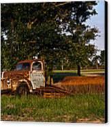 Rusty Truck And Tank Canvas Print by Douglas Barnett