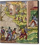 Sack Of Cartagena, C1544 Canvas Print by Granger