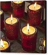 Sacrificial Candles Canvas Print