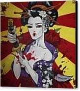 Sacrificial Geisha Canvas Print