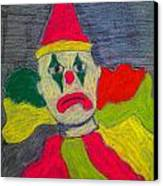 Sad Clown Canvas Print by Robyn Louisell