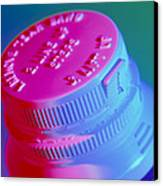 Safety Cap On A Medicine Bottle Canvas Print by Steve Horrell