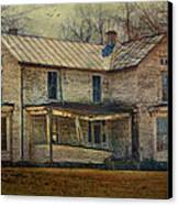 Saggy Porch Canvas Print by Kathy Jennings
