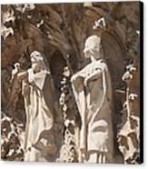 Sagrada Familia Nativity Facade Detail Canvas Print