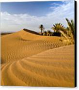 Sahara Desert At M'hamid, Morocco, Africa Canvas Print