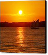 Sail Off Into The Sunset Canvas Print by Andrew Pacheco