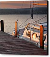 Sailboat Sunrise II Canvas Print by Steven Ainsworth